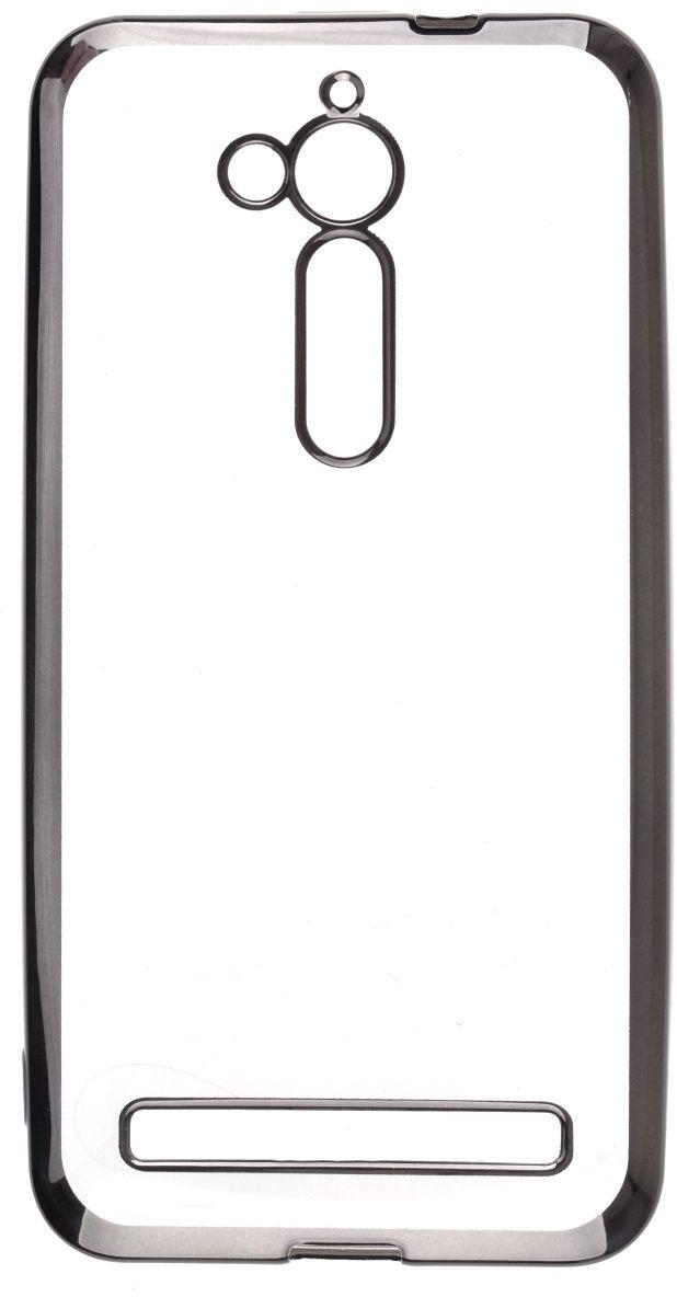 Skinbox Silicone Chrome Border 4People чехол для ASUS ZenFone Go (ZB500KL), Dark Silver2000000126456Чехол-накладка Skinbox Silicone Chrome Border 4People для ASUS ZenFone Go (ZB500KL) бережно и надежно защитит ваш смартфон от пыли, грязи, царапин и других повреждений. Выполнен из высококачественного поликарбоната, плотно прилегает и не скользит в руках. Чехол-накладка оставляет свободным доступ ко всем разъемам и кнопкам устройства.