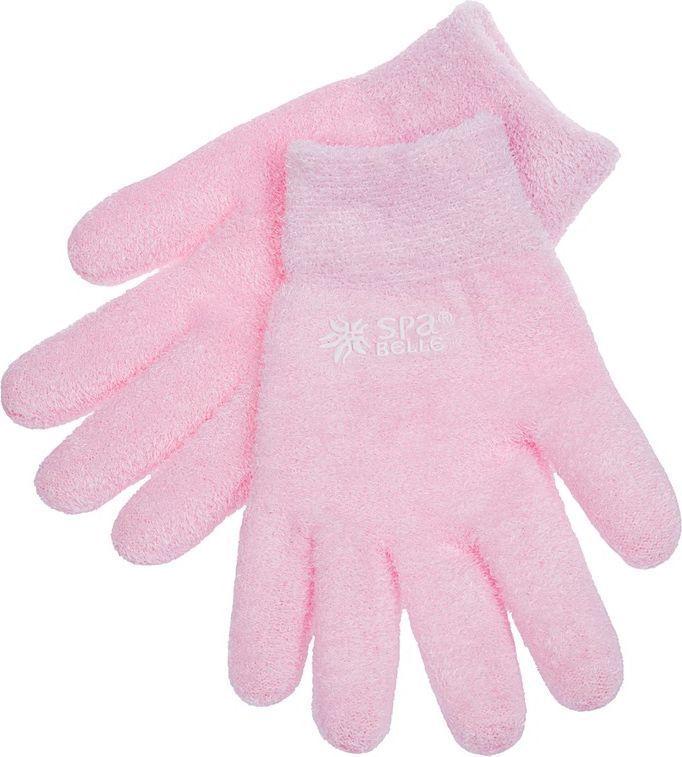 SPA Belle Увлажняющие гелевые перчатки с лавандой, цвет: розовый