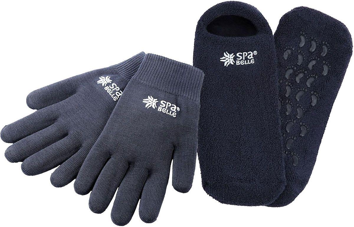 SPA Belle Комплект увлажняющие гелевые мужские перчатки и носки с мятойMSGS005GPКомплект: косметические перчатки и носки с гелевой пропиткой с маслами для экспресс-спа ухода за руками и ногами. Применение: очистить кожу, надеть изделия на 20-30 минут перед сном или во время отдыха. Допускается предварительное нанесение на кожу любых косметических средств, если это необходимо. Гель разогревается от тепла тела, масла проникают в кожу, увлажняют, тонизируют, дезодорируют, заживляют микротрещины. Изделие можно подвергать ручной стирке в прохладной воде с мыльным раствором, сушка при комнатной температуре. Результат: шелковистая, гладкая и здоровая кожа рук и ног.