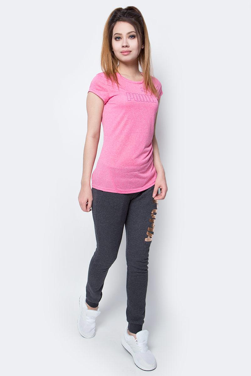 Футболка женская Puma Active Ess No.1 Tee W, цвет: розовый. 838438_38. Размер L (46/48)838438_38Футболка Active Ess No.1 Tee изготовлена из практичной приятной к телу ткани, декорирована на груди набивным логотипом PUMA с прорезиненными деталями и снабжена вставками из сетки на спине. Модель имеет круглый вырез горловины и стандартные рукава. Среди других особенностей изделия - отделка сзади по вороту тесьмой с фирменной символикой, боковые швы с нахлестом вперед, фирменный покрой. Изделие имеет стандартную посадку.