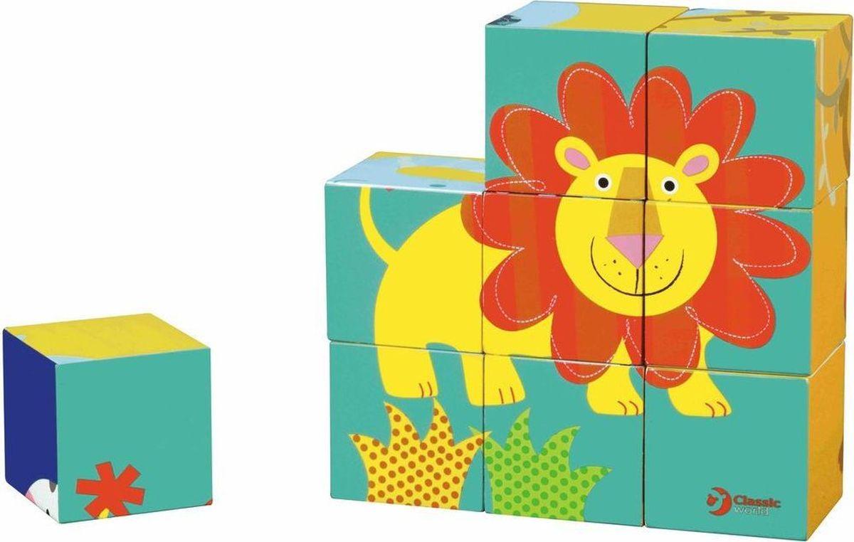 Classic World Кубики-пазлы Приключения в джунглях
