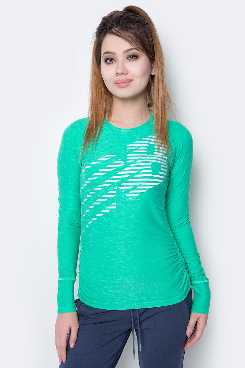Лонгслив женский New Balance Viz Ls, цвет: зеленый. WT71212/VJH. Размер XS (42)