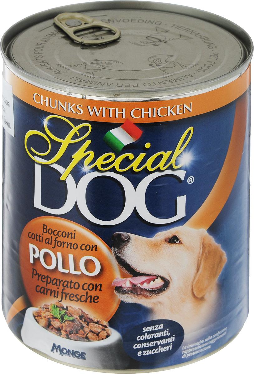 Консервы для собак Monge Special Dog, с кусочками курицы, 820 г консервы для собак зоогурман спецмяс с индейкой и курицей 300 г