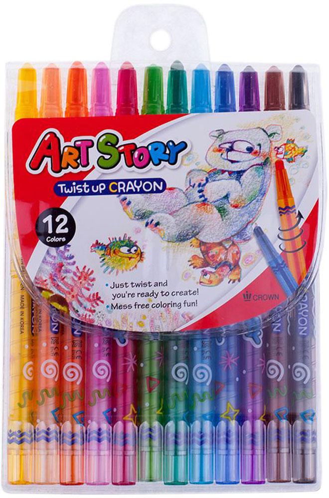 Crown Карандаши восковые 12 цветовTP-1200Восковые карандаши Crown отличаются необыкновенной яркостью и стойкостью цвета, легко смешиваются, создавая огромное количество оттенков. Не токсичны и абсолютно безопасны.Восковые карандаши откроют юным художникам новые горизонты для творчества, а также помогут отлично развить мелкую моторику рук, цветовое восприятие, фантазию и воображение.Карандаши не нуждаются в затачивании. Стержень выкручивающийся.