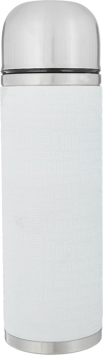 Термос Emsa Senator Sleeve, цвет: белый, стальной, 1 л515716Термос Emsa Senator Sleeve имеет прочный корпус из нержавеющей стали. Внешние стенки дополнены силиконовой накладкой с рельефными надписями. Модель снабжена герметичной пластиковой пробкой, которая предотвращает выливание содержимого. Крышка с внутренним пластиковым покрытием удобно завинчивается и может послужить в качестве чашки для напитков. Термос сохраняет напиток горячим 12 часов, холодным - 24 часа. Диаметр горлышка: 4,5 см. Диаметр основания: 9 см. Высота термоса: 30 см.