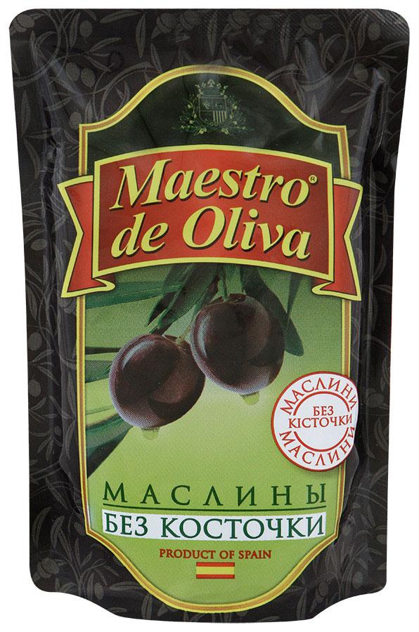 Maestro de Oliva Маслины без косточки, 170 г маслины без косточки принцесса вкуса 300 мл