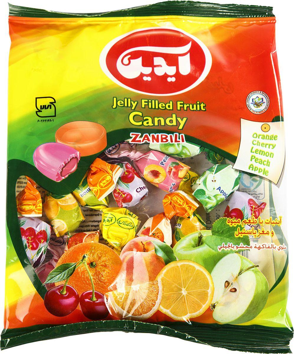 Aidin конфеты фруктовые с жидким центром, 120 г