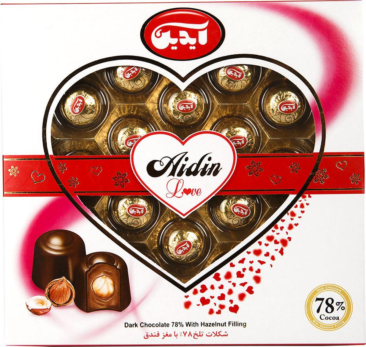 Aidin конфеты из темного шоколада с фундуком, 200 г6260109259455Шоколад - одно из самых популярных лакомств. Компания Aidin начинает свою историю с 1945 года. Покупая продукцию Aidin, можете быть уверены в том, что в изысканных сладостях соединились вкус и наслаждение. Высокое качество продукции продиктовано строгими законами Исламской республики.
