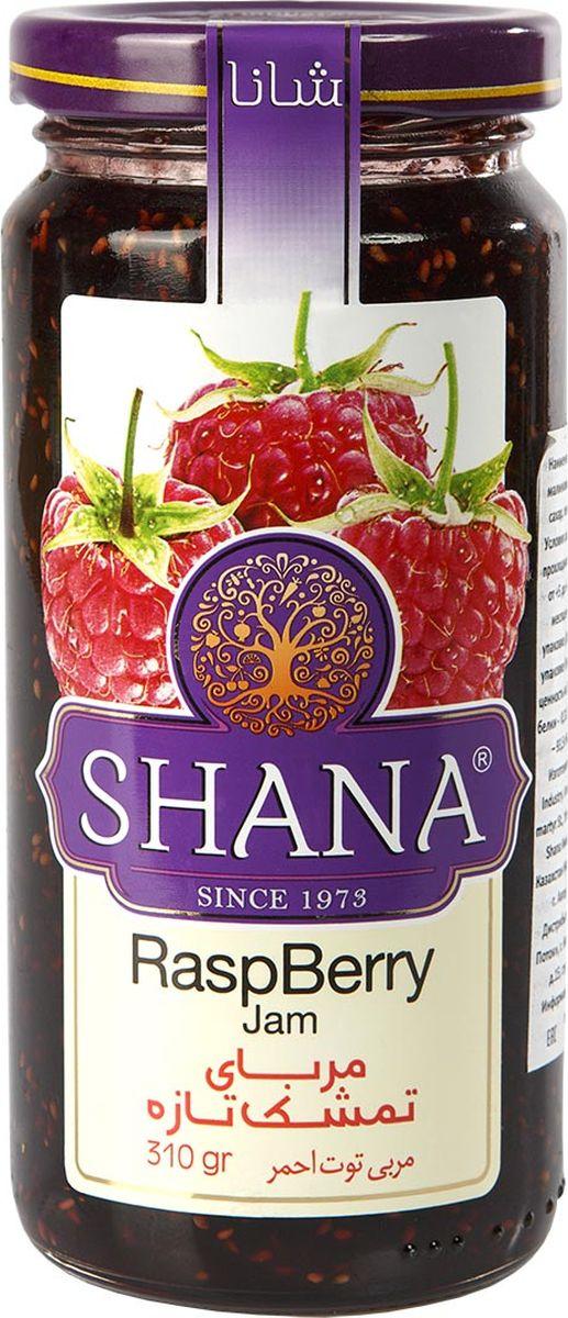 Shana джем малиновый, 310 г6260272444795ДжемыShana- это не только душистое и вкусное лакомство, но и хороший способ сохранения витаминов лета.Джемы готовятся таким образом, чтобы ингредиенты сохраняли свою форму. Вы сможете полакомиться кусочками фруктов и соцветиями и получите удовольствие от ощущения натуральности продукта. Сироп в джемахShana присутствует только в необходимом количестве, основную массу джемов составляют фрукты, ягоды и другие компоненты. Малина представляет собой настоящее вкусное лекарство, применяется в традиционной народной медицине в качестве противовоспалительного и жаропонижающего средства (малина обладает этими свойствами в любом виде благодаря присутствию салициловой кислоты).