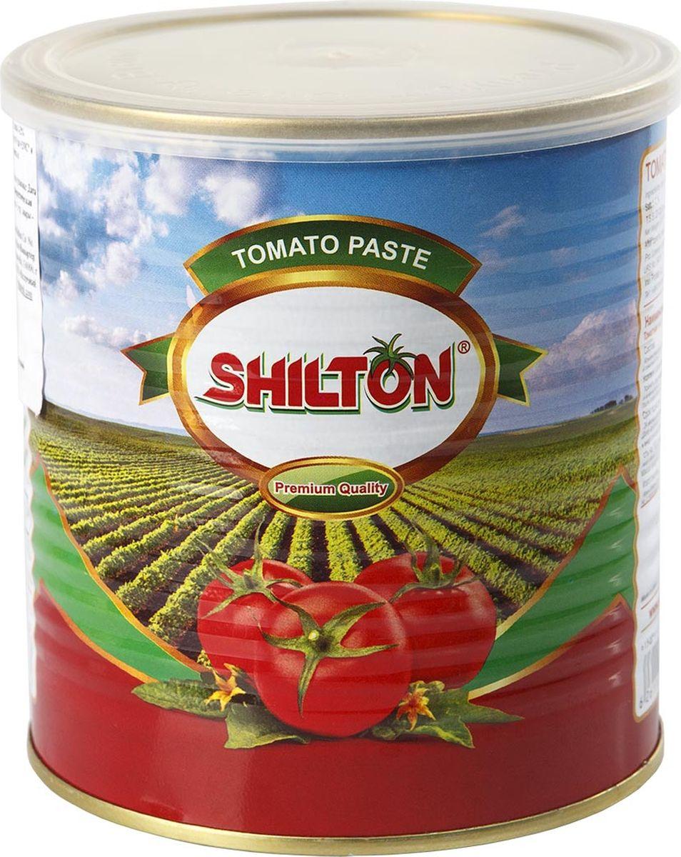 Shilton томатная паста, 800 г6261182000835Томатная паста Shilton изготовлена из сочных и спелых томатов, выращенных в условиях уникального климата Ирана. Прекрасный вкус и натуральность продукта завоевали внимание гурманов из многих стран мира. Томатная паста Shilton – однородная смесь, без примесей и черных частиц, без кожуры и косточек. Современные технологии Shilton сохраняют пасту для вас без консервантов.