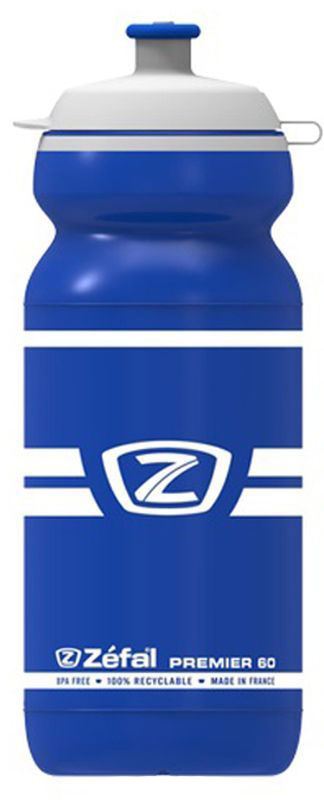 Фляга велосипедная Zefal Premier 60, цвет: синий, белый, 600 мл аксессуары для велосипедов и самокатов zefal фляга велосипедная premier 60 600 мл