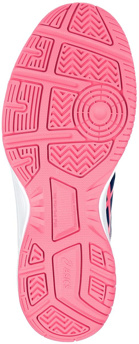 Кроссовки для тенниса женские Asics Gel-Gamepoint, цвет:  темно-синий, розовый.  E459L-4920.  Размер 6H (36) Asics