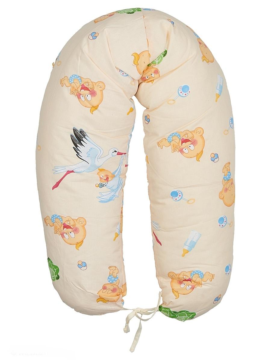 40 недель Подушка для кормящих и беременных цвет бежевый 160 см531-401Многофункциональная подушка с наполнителем из холлофайбера подходит для кормления и отдыха - обеспечивает комфорт мамы и малыша.В период беременности ее удобно использовать, подкладывая под живот или спину. Для уменьшения нагрузки на спину, плечи, руки и шею во время кормления расположите подушку вокруг талии. Для поддержания ребенка в различных положениях и зашиты его от падения, следует поместить малыша в центр подушки.Модель со съемным чехлом из хлопкового полотна.Размер 160 х 30 см.