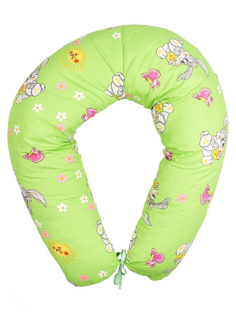 40 недель Подушка для кормящих и беременных цвет салатовый 190 см