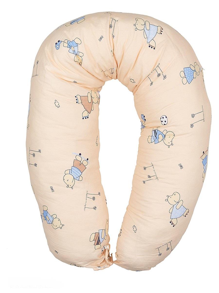 40 недель Подушка для кормящих и беременных Бегемотики цвет бежевый голубой 170 смБХП-170/Многофункциональная подушка с наполнителем из холлофайбера подходит для кормления и отдыха - обеспечивает комфорт мамы и малыша.В период беременности ее удобно использовать, подкладывая под живот или спину. Для уменьшения нагрузки на спину, плечи, руки и шею во время кормления расположите подушку вокруг талии. Для поддержания ребенка в различных положениях и зашиты его от падения, следует поместить малыша в центр подушки.Модель со съемным чехлом из хлопкового полотна на застежке-молнии.Размер 170 х 30 см.