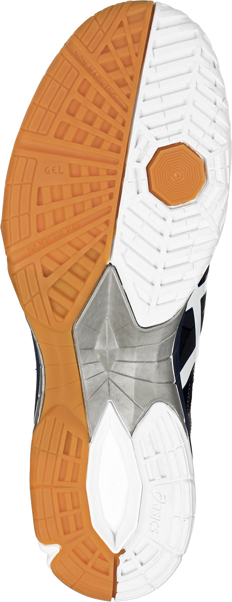Кроссовки для волейбола мужские Asics Gel-Tactic, цвет:  темно-синий, синий.  B504N-5801.  Размер 15 (48) Asics
