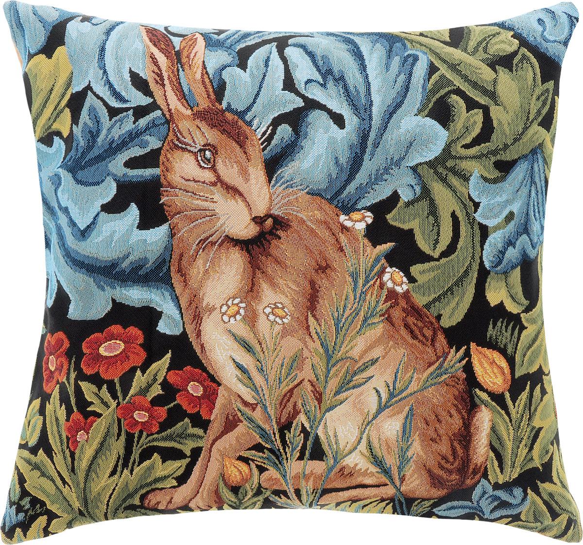 Подушка декоративная Рапира Заяц. Уильям Моррис, 50 х 45 см декоративная подушка шкура медведя искусственный мех 50 50