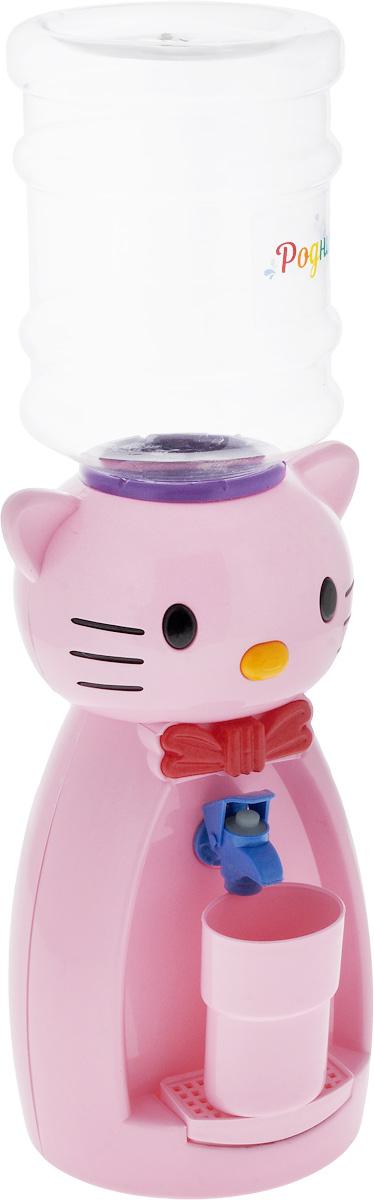 Мини-кулер для воды и сока Родничок Кошка, цвет: розовый, 2 л111363Детский мини-кулер Родничок Кошка выполнен из экологически чистого пластика. Изделие не греет и не охлаждает воду, поэтому вы можете не беспокоиться, что ребенок обожжется или простудит горло. Соки, компоты, отвары трав в этом кулере будут для малыша более привлекательны, чем лимонад и другие вредные для организма напитки.Кроха с удовольствием будет наливать напиток из кулера в небольшой стаканчик совсем как взрослый. Ребенок станет потреблять больше жидкости. Вам не придется уговаривать его выпить молоко или компот.Изделие легкое и компактное, поэтому его можно взять с собой на дачу или на пикник. Яркий дизайн, сочные цвета и веселый персонаж сделают такой кулер украшением стола на детском празднике. Стакан входит в комплект.Высота мини-кулера (с учетом бутылки): 50 см. Размер стаканчика: 6,5 х 5 х 8,5 см. Высота бутылки: 18 см.