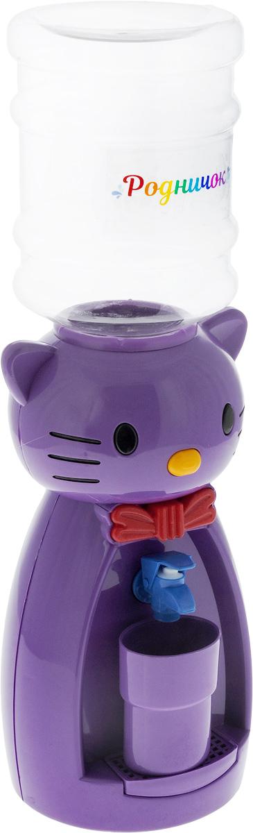Мини-кулер для воды и сока Родничок Кошка, цвет: фиолетовый, красный, 2 л111364Детский мини-кулер Родничок Кошка выполнен из экологически чистого пластика. Изделие не греет и не охлаждает воду, поэтому вы можете не беспокоиться, что ребенок обожжется или простудит горло. Соки, компоты, отвары трав в этом кулере будут для малыша более привлекательны, чем лимонад и другие вредные для организма напитки.Кроха с удовольствием будет наливать напиток из кулера в небольшой стаканчик совсем как взрослый. Ребенок станет потреблять больше жидкости. Вам не придется уговаривать его выпить молоко или компот.Изделие легкое и компактное, поэтому его можно взять с собой на дачу или на пикник. Яркий дизайн, сочные цвета и веселый персонаж сделают такой кулер украшением стола на детском празднике.Стакан входит в комплект.Высота мини-кулера (с учетом бутылки): 49 см. Размер стаканчика: 6,5 х 5 х 8,5 см. Высота бутылки: 18 см.