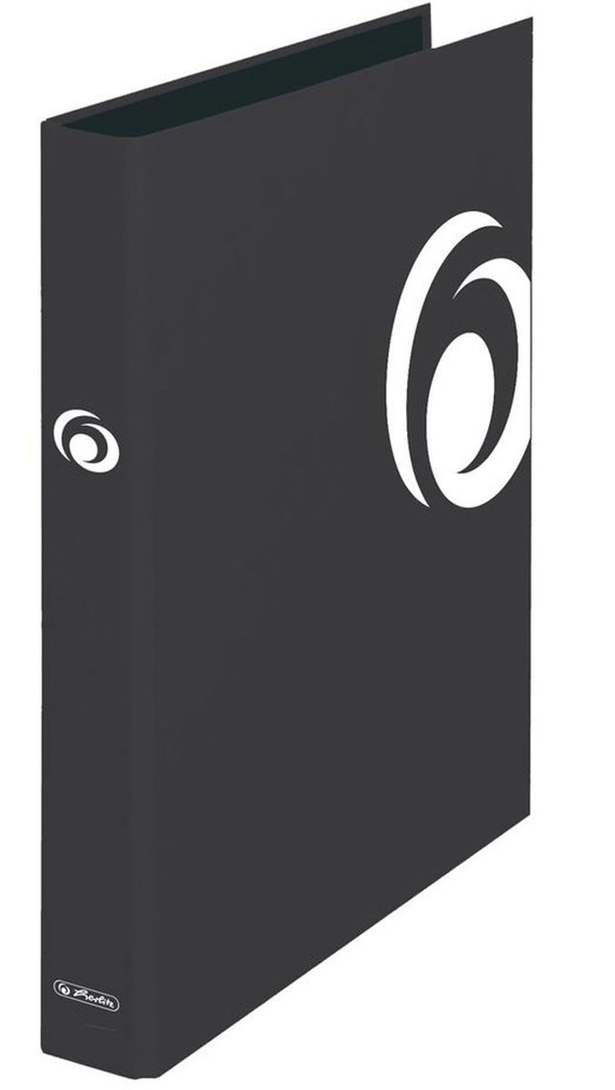 Herlitz Папка на кольцах MaX.file цвет черный10935153Папка на кольцах Herlitz MaX.file предназначена для хранения больших объемов документов.Обложка выполнена из плотного картона. Документы фиксируются при помощи двух колец.Папка значительно облегчает делопроизводство. Оригинальный дизайн позволит ей стать достойным аксессуаром среди ваших канцелярских принадлежностей.