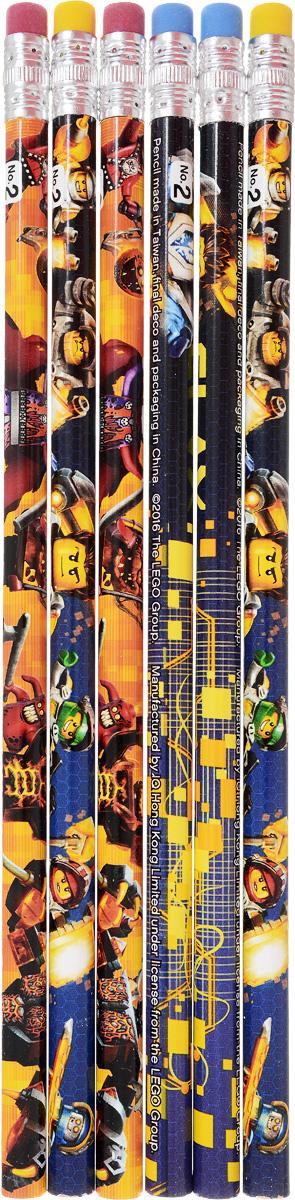 LEGO NEXO KNIGHTS Набор чернографитных карандашей 6 шт 5154651546Набор чернографитных карандашей от LEGO - это прекрасный атрибут для современного школьника. Каждый карандаш в наборе оформлен изображениями героев LEGO.Корпус карандашей изготовлен из натуральной липы.Этот набор чернографитных карандашей отлично подойдет для различных графических или чертежных работ.