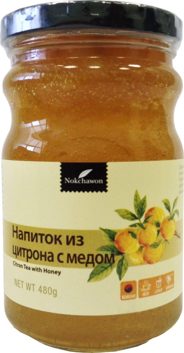 Nokchawon напиток из цитрона с медом, 480 гжва001Напиток утоляет жажду, усиливает пищеварение. Способ применения: 2-3 ложки (20 г) смешать с теплой или холодной водой. Напиток по консистенции похож на джем, можно намазывать его на хлеб как варенье.