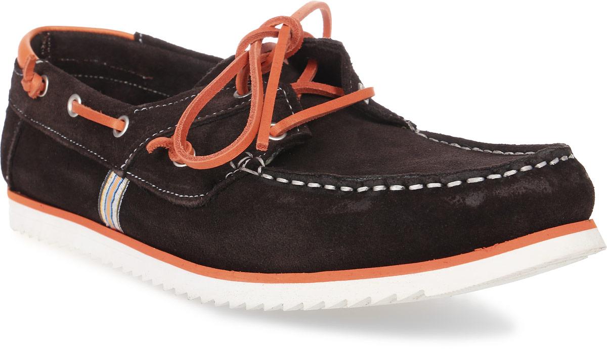 Купить Топсайдеры мужские El Tempo, цвет: темно-коричневый, оранжевый. PFT13_2013. Размер 42