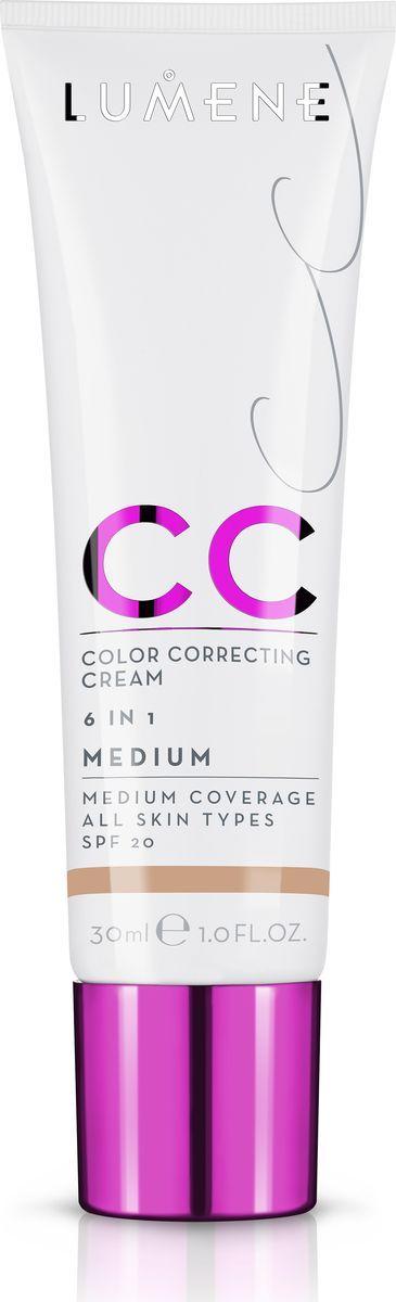 Lumene Тональное средство CC-крем SPF 20 Средний, 30 млNL290-82823Невесомое, но при этом стойкое тонирующее средство CC-крем Абсолютное совершенство для безупречного покрытия. Подстраивается под естественный оттенок кожи. Может использоваться самостоятельно или как база под макияж. Обеспечивает уход за кожей и защиту. Подходит для всех типов кожи. Оттенок Средний.