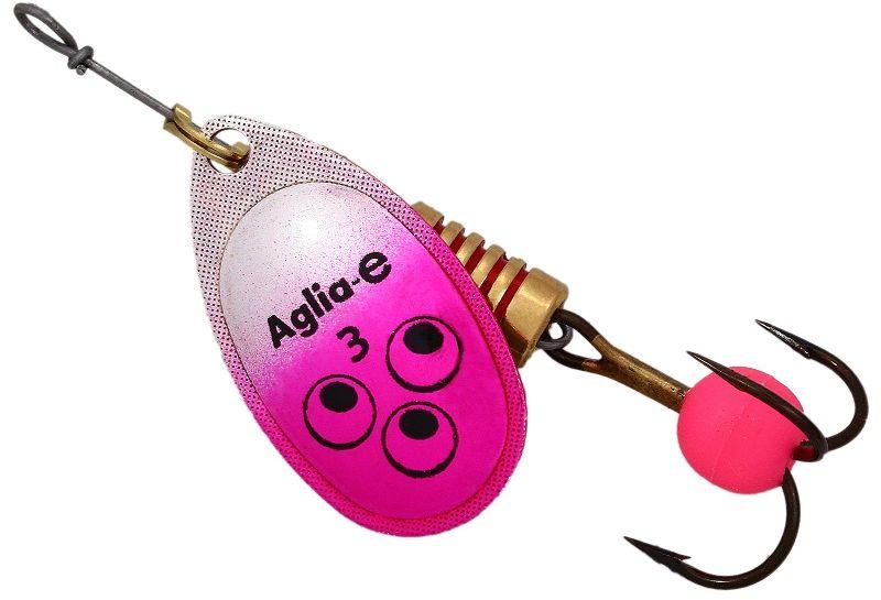 Блесна вращающаяся Mepps Aglia E, цвет: розовый, №362427Вращающаяся блесна Mepps Aglia E предназначена для ловли хищных видов рыб. Имеет яркий, кислотный цвет. Тройник блесны оснащен флуоресцентным светонакопительным шариком.