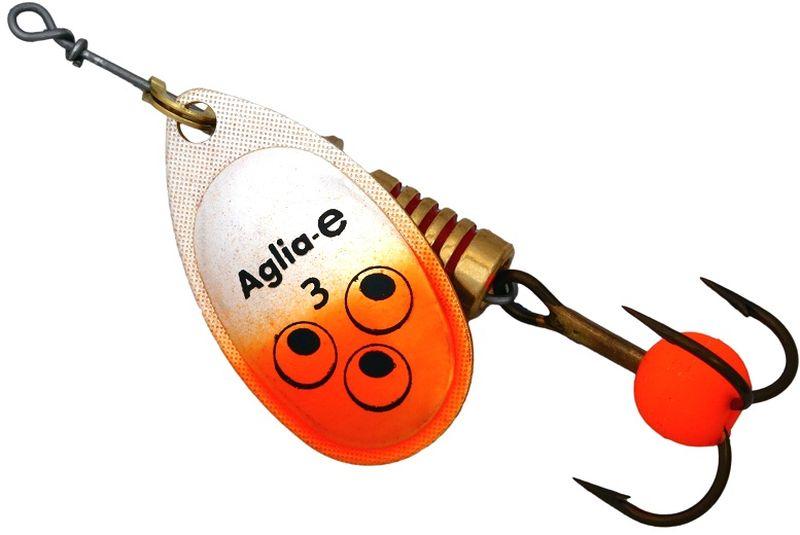 Блесна вращающаяся Mepps Aglia E, цвет: оранжевый, №34271825Вращающаяся блесна для ловли хищных видов рыб. Имеет яркий, кислотный цвет. Тройник блесны оснащен флуоресцентным светонакопительным шариком.