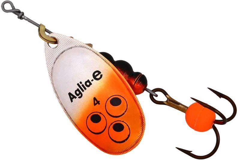Блесна вращающаяся Mepps Aglia E, цвет: оранжевый, №4
