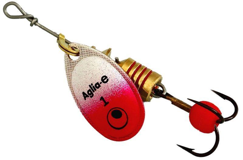 Блесна вращающаяся Mepps Aglia E, цвет: красный, №162435Вращающаяся блесна Mepps Aglia E предназначена для ловли хищных видов рыб. Имеет яркий, кислотный цвет. Тройник блесны оснащен флуоресцентным светонакопительным шариком.
