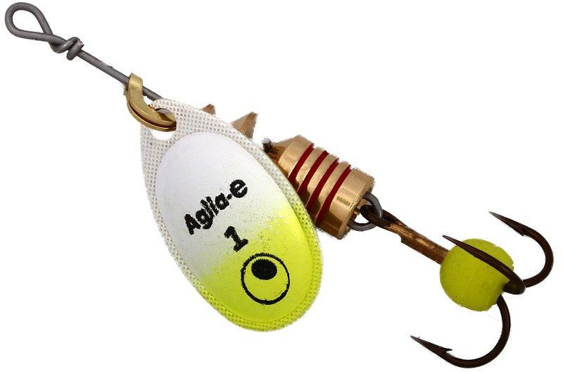 Блесна вращающаяся Mepps Aglia E, цвет: шартрез, №195437-530Вращающаяся блесна для ловли хищных видов рыб. Имеет яркий, кислотный цвет. Тройник блесны оснащен флуоресцентным светонакопительным шариком.