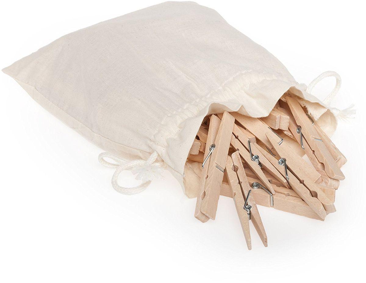 Прищепки для белья Redecker Jumbo, в мешке, 20 шт103860Классические деревянные прищепки для белья Redecker Jumbo, с которыми не могут соперничать современные пластиковые приспособления. Изготовлены из необработанной древесины бука. Большие и надежные прищепки с сильной нержавеющей спиральной пружиной внутри надежно зафиксируют тяжелые и объемные вещи. Прищепки в хлопковом, удобном для хранения мешочке.Длина прищепки - 9 см.
