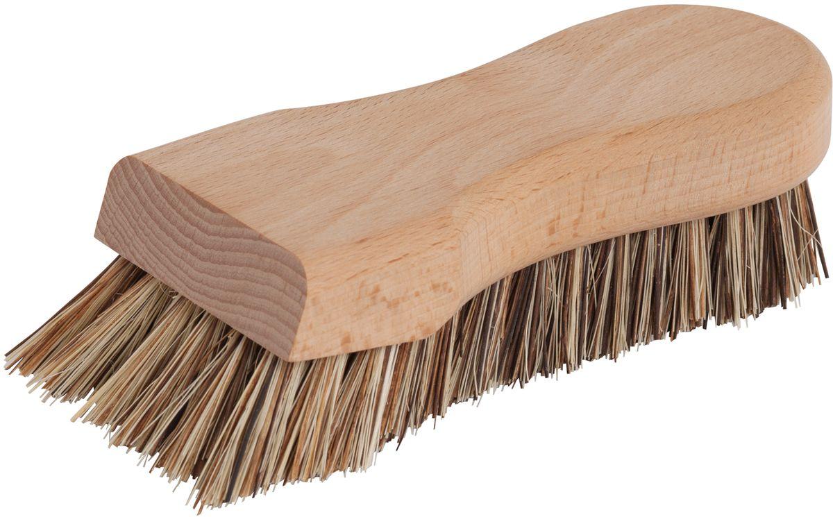 Щетка для кухни Redecker, жесткая, длина 16 см302614Щетка для кухни Redecker, сделанная из необработанной древесины бука и экстра жесткой щетины. Щетина представляет собой смесь двух разных волокон растительного происхождения - волокна тэмпико, добываемого из растений агавы и пальмирского волокна, получаемого из листьев пальмирской пальмы.Волокно тэмпико характеризуется высокой жаро- и формоусточивостью, что делает его идеальным материалом для чистящих щеток, в то время как пальмирское волокно устойчиво к высоким температурам и влаге. Вместе они образуют жесткую разноцветную щетину, которая без труда справится с сильными загрязнениями кухонных поверхностей.Длина щетки:16 см.