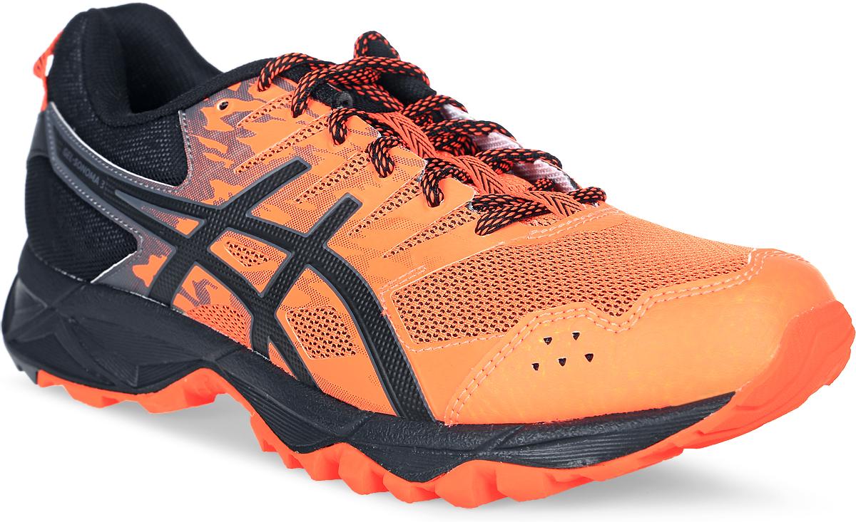 Кроссовки для бега мужские Asics Gel-Sonoma 3, цвет: оранжевый, черный. T724N-3090. Размер 7 (38,5)T724N-3090Третье поколение кроссовок Asics Gel-Sonoma 3 для бега по пересеченной местности. Модель обладает высокой износостойкостью. Благодаря новому дизайну верха кроссовки обеспечивают превосходную посадку и защиту при движении. Они выполнены из лёгкого синтетического и воздухопроницаемого сетчатого материалов. Светоотражающие вставки 3M. Надежная износостойкая резина AHAR+. Asics Гель (специальный вид силикона) в носке снижает нагрузку на пятку, колени и позвоночник спортсмена. Trusstic System - литой элемент под центральной частью подошвы, предотвращающий скручивание стопы.