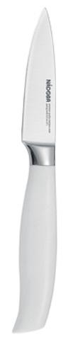 Нож для овощей Nadoba Blanca, длина лезвия 8,5 см723416Нож для овощей Nadoba Blanca изготовлен из высококачественной кованой нержавеющей стали премиум-класса. Лезвие такого ножа остается острым очень долгое время. Эргономичная ручка выполнена из кованой нержавеющей стали с ABS-пластиком. Этот легкий и многофункциональный нож прекрасно подойдет для очистки и нарезкиовощей и фруктов. Нож Nadoba Blanca станет прекрасным дополнением к коллекции ваших кухонных аксессуаров.Длина лезвия: 8,5 см.