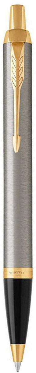 Parker Ручка шариковая IM Brushed Metal GT1931670Марка Parker гарантирует полную уверенность в превосходном качестве товара. Автоматическая шариковая ручка Parker IM Brushed Metal GT будет не только долго служить, но и неизменно радовать удобством и легкостью письма, надежностью в эксплуатации и прекрасным эстетическим исполнением.Автоматическая шариковая ручка Parker IM Brushed Metal GT изготовлена из латуни с покрытием глянцевого лака. Цвет декоративных элементов - золотой. Форма ручки - круглая, цвет чернил - синий. Автоматическая шариковая ручка Parker IM Brushed Metal GT аккуратно упакована в выдвижной футляр.