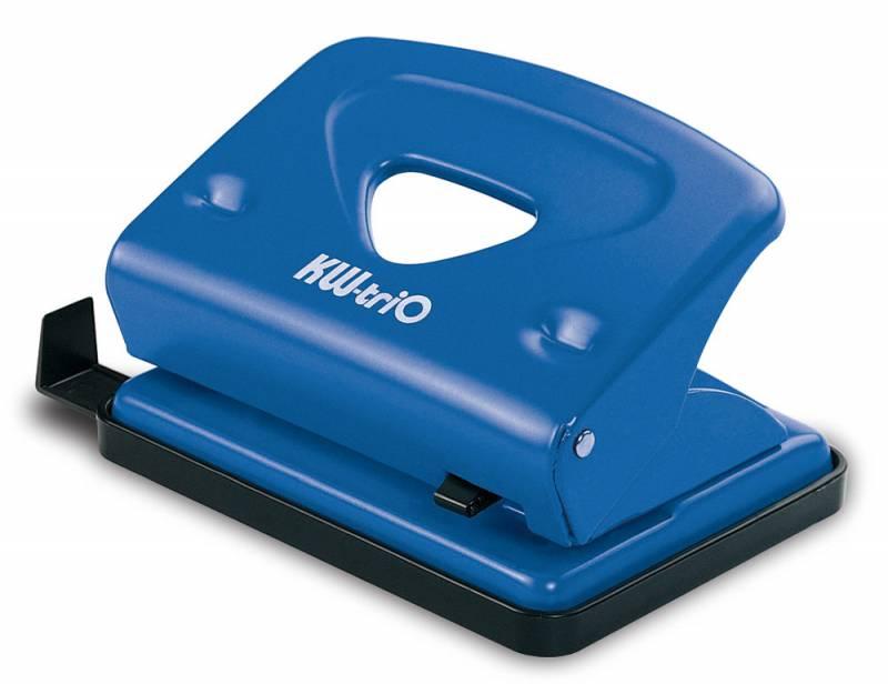 KW-trio Дырокол Classic цвет синий 16 листов942bluОфисный металлический дырокол KW-Тrio на 16 листов изготовлен из металла и пластика. Снабжен пластиковой выдвижной линейкой и поддоном для конфетти.Диаметр прокола: 6 мм. Расстояние между отверстиями: 80 мм.