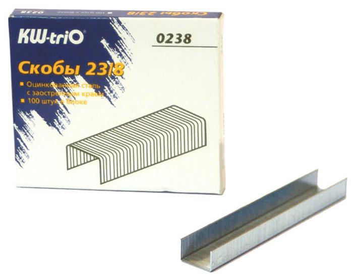 KW-trio Скобы оцинкованные №23/8 1000 шт фонарь maglite 2d синий 25 см в картонной коробке 947191