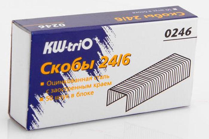 KW-trio Скобы оцинкованные №24/6 1000 шт фонарь maglite 2d синий 25 см в картонной коробке 947191