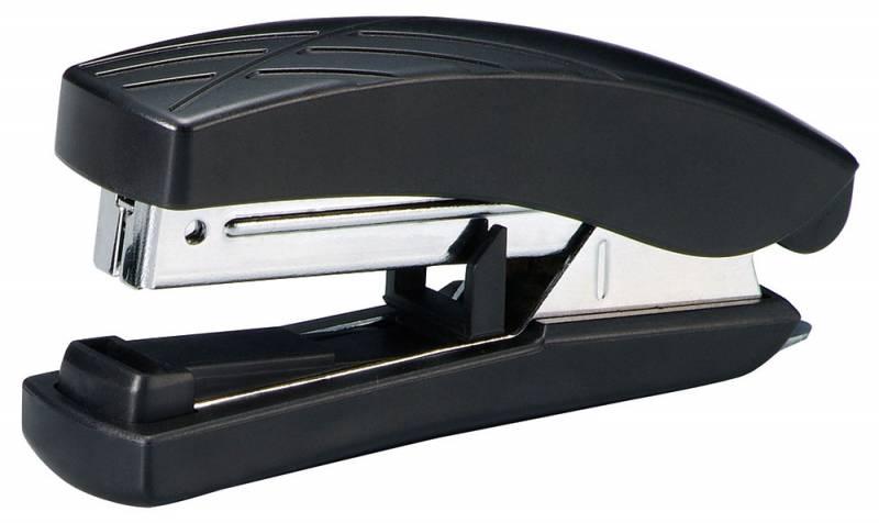 KW-trio Степлер Bias 5275 цвет черный 20 листов5275Офисный KW-trio Степлер Bias черного цвета. Сшивает до 20 листов бумаги плотностью 80гр/м2. Функция плоского подгиба скобы, позволяющая уменьшить высоту стопы сшитых документов до 30%. Скобы №10. Глубина прошивки 45мм. Вместимость 100 скоб. Встроенный антистеплер.