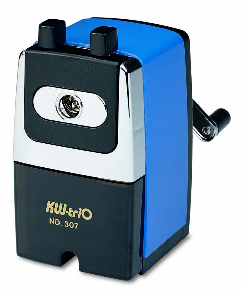 KW-Тrio Точилка для карандашей цвет синий307AbluОфисная металлическая механическая точилка KW-Тrio для одного карандаша. Имеются контейнер для стружки и струбцина для крепления к столу. Максимальный диаметр карандаша до 8 мм.