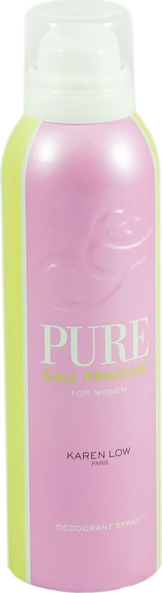 Geparlys Парфюмированный дезодорант для женщин Deo Pure Fraiche линии Karen Low , 200 мл3700134408198Фруктовый, легкий. Основная парфюмерная композиция: Гранат, лайм, яблоко, пион, жасмин, лотос, амбре.