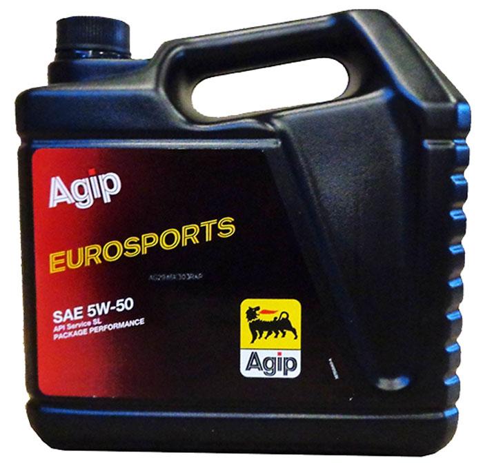 Моторное масло Eni 5w-50 Eurosport 4лEni5w50Eurosport4Agip EUROSPORTS - полностью синтетическое моторное масло, разработанное на основе синтетических базовых масел (полиальфаолефинов) для бензиновых двигателей, эксплуатируемых в тяжелых условиях (высокая мощность двигателя, частые остановки, длительная езда по шоссе). Масло также может применяться и в дизельных двигателях. Синтетический компонент значительно укрепляет масляную пленку, прочно прилипающую к трущимся поверхностям двигателя, даже если он находился какое-то время в нерабочем состоянии, что обеспечивает легкий запуск и значительно снижает износ при тяжелых нагрузках. Широкий вязкостный ряд 5W-50 обеспечивает необходимую вязкость масла при любом вождении и при любой наружной температуре. Высокие противоизносные свойства обеспечивают защиту от износа всех трущихся деталей в течение длительного времени и сокращают потребность в сервисном обслуживании двигателя. Использование малоиспаряемых, термостабильных синтетических компонентов снижает расход масла. Agip EUROSPORTS обладает отличными антикоррозионными, антиокислительными, моюще-диспергирующими и антипенными свойствами. Характеристики. Спецификации и одобрения API SL