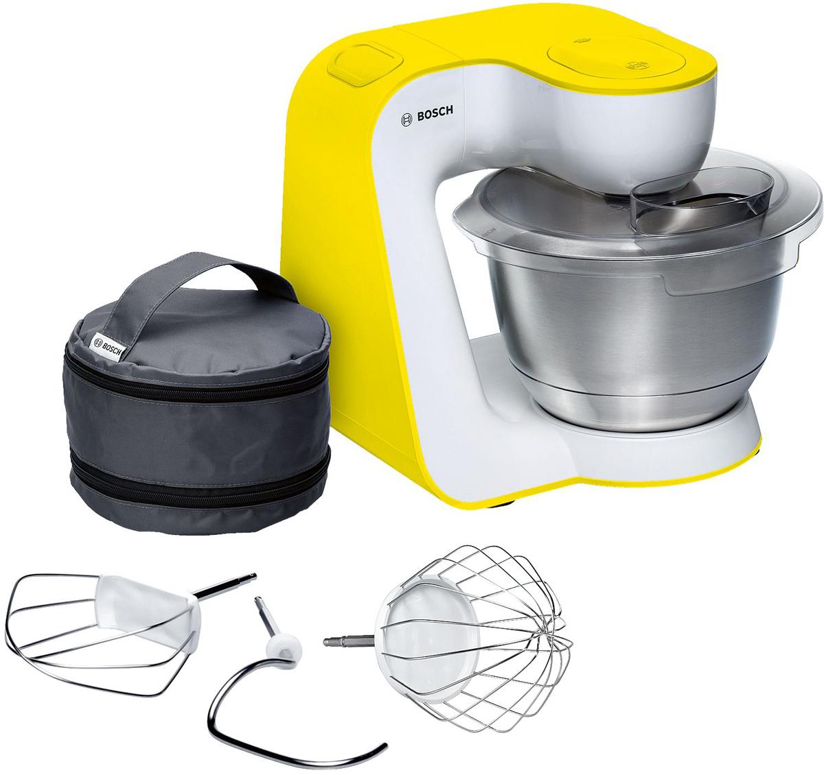 Bosch MUM54Y00 кухонный комбайнMUM54Y00Bosch MUM54Y00 - мощная кухонная машина с многосторонними возможностями для готовки и выпечки. Мотормощностью 900 Вт легко обрабатывает большие количества ингредиентов. Отличное качество замеса тестаблагодаря планетарному вращению Multi-motion-drive. 7 скоростей замешивания и импульсный режим обеспечатнаилучший результат. Большая чаша из нержавеющей стали 3,9 л позволяет замешать до 2 кг крутого теста. BoschMUM54Y00 имеет функцию автоматического поднятия рычага EasyArmLift.