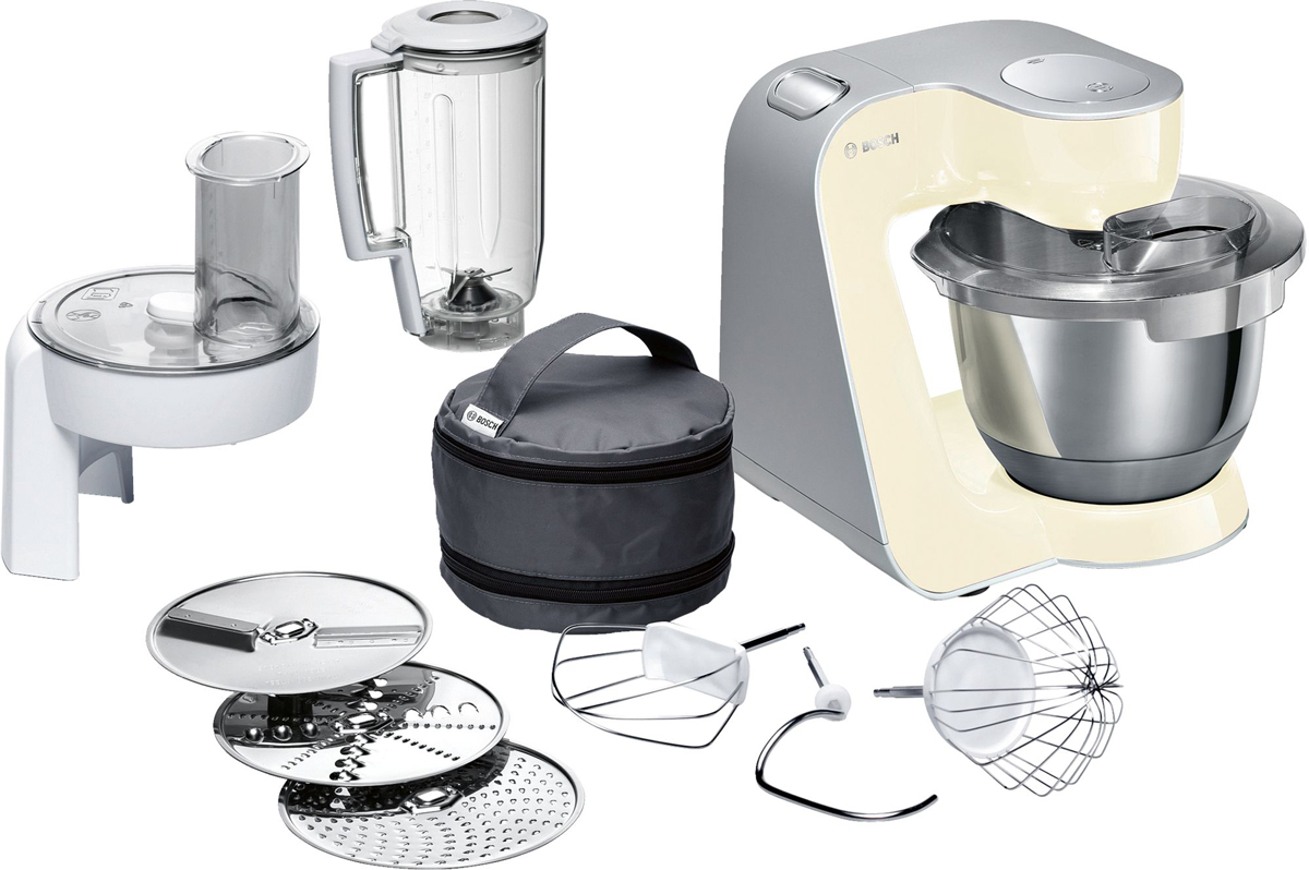Bosch MUM58920, Vanilla Silver кухонный комбайн - Комбайны и мясорубки