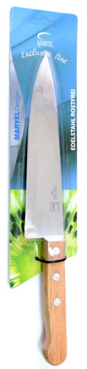 Нож кухонный Marvel Econom series, для нарезки, длина лезвия 17,5 см15680Кухонный нож Marvel Econom series изготовлен из высококачественной стали. Рукоятка выполнена из дерева. Она не скользит в руке и делает резку удобной и безопасной. Этот нож идеально подходит для нарезки любых продуктов. Он займет достойное место среди аксессуаров на вашей кухне.