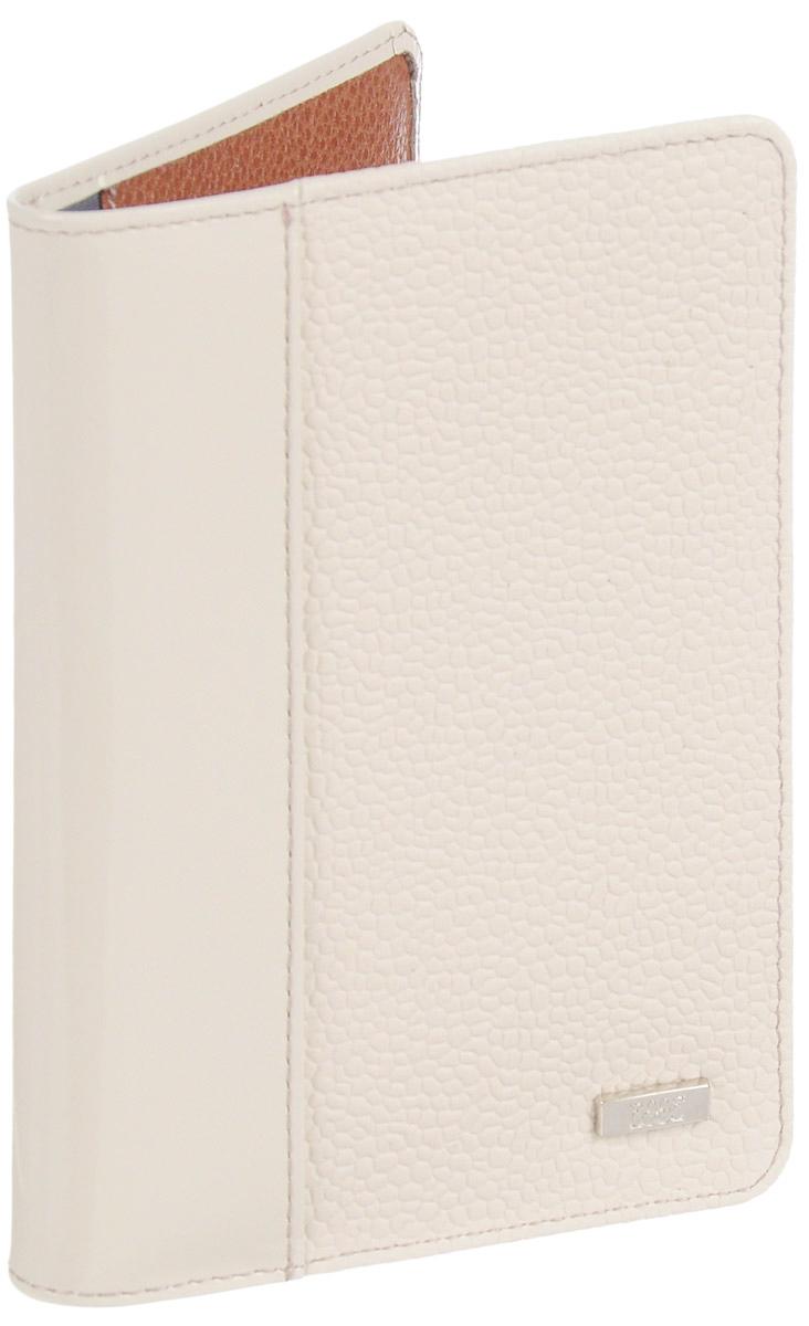 Обложка для паспорта женская Esse  Page , цвет: молочный, коричневый. GPGE00-000000-FJ242O-K100 - Обложки для паспорта
