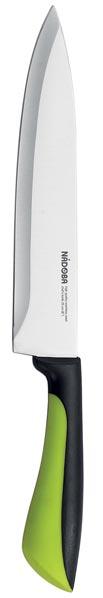 Нож поварской Nadoba Jana, длина лезвия 20 см723110Поварской Nadoba Jana изготовлен из высококачественной нержавеющей стали. Лезвие такого ножа остается острым очень долгое время, оно заточено и сформировано для максимально эффективного использования. Изделие оснащено эргономичной ручкой из высокопрочного пластика с противоскользящей резиновой вкладкой. Лезвие имеет форму, позволяющую с легкостью справляться с любым продуктом. Нож предназначен как для рубки мяса, так и для шинковки капусты.Нож Nadoba Jana станет прекрасным дополнением к коллекции ваших кухонных аксессуаров и не займет много места при хранении. Общая длина ножа: 20 см.